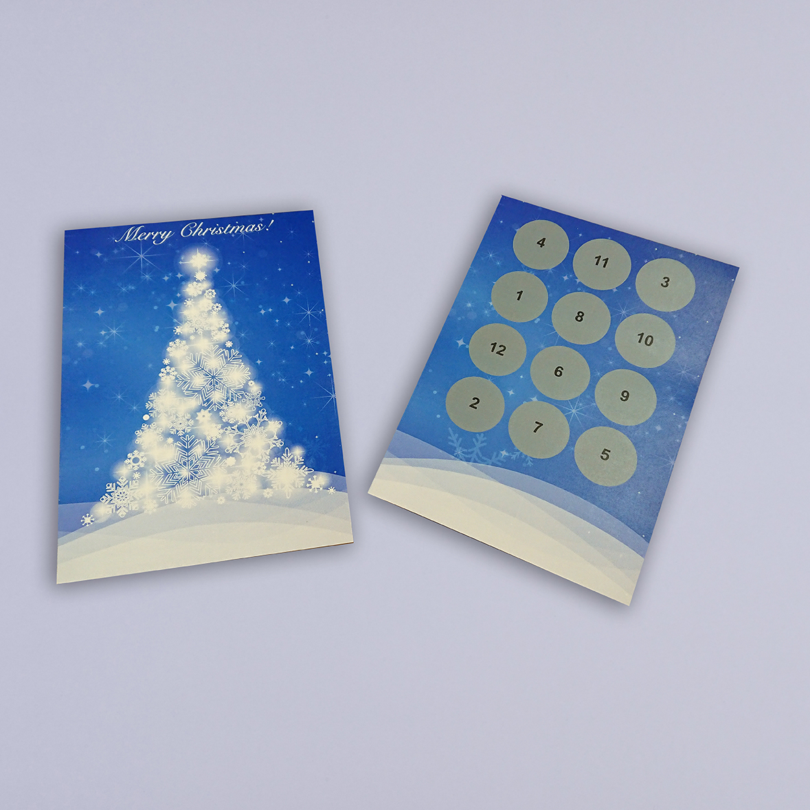 Advent Calendar with Scratch Off Panels