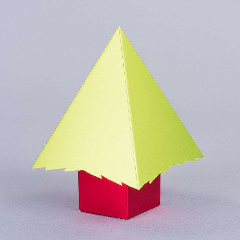 Pop Up Christmas Tree With Board Envelope