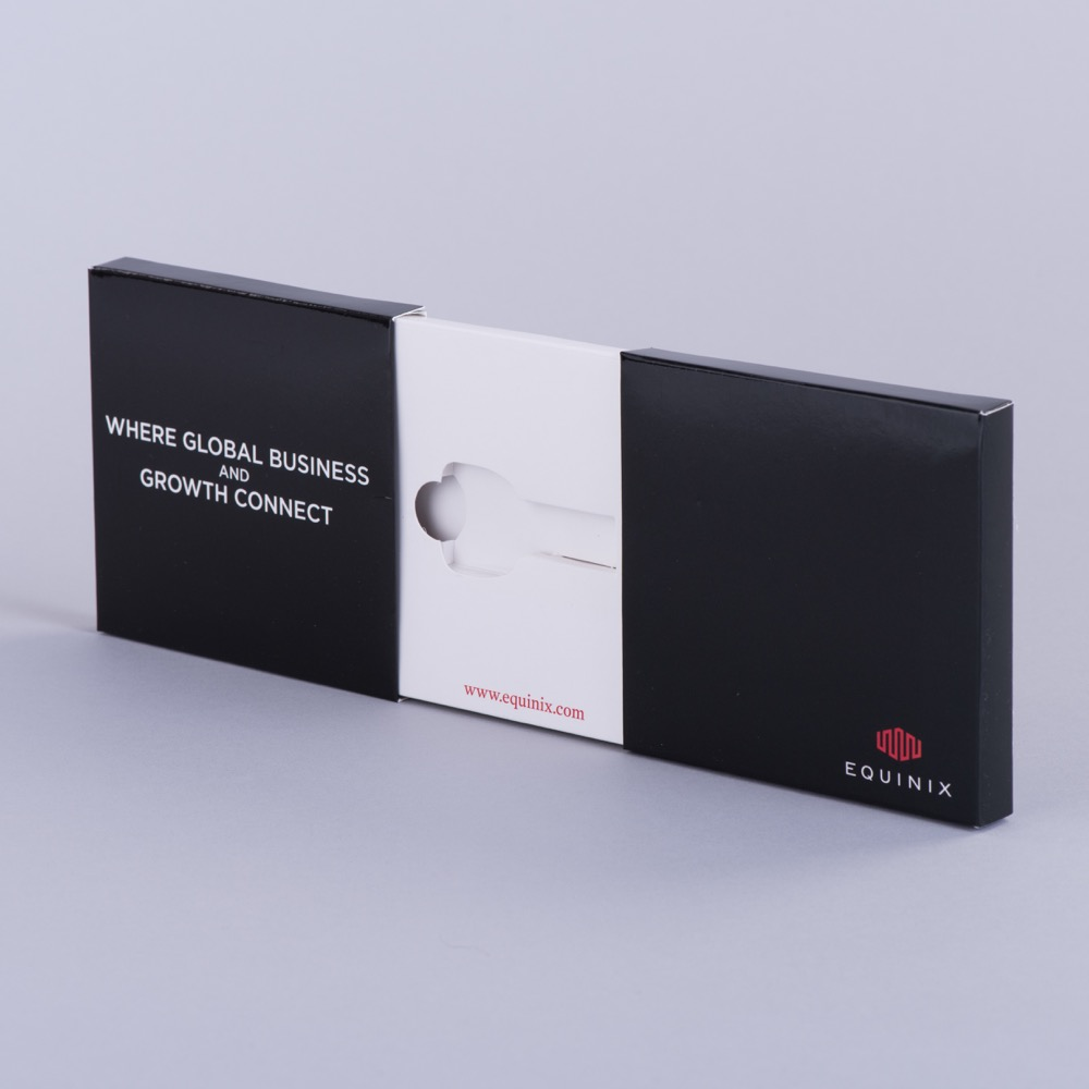 Centre opening usb/card presentation box