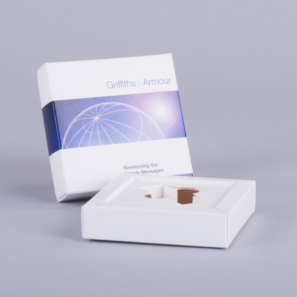 Promotional lift off lid box to hold USB