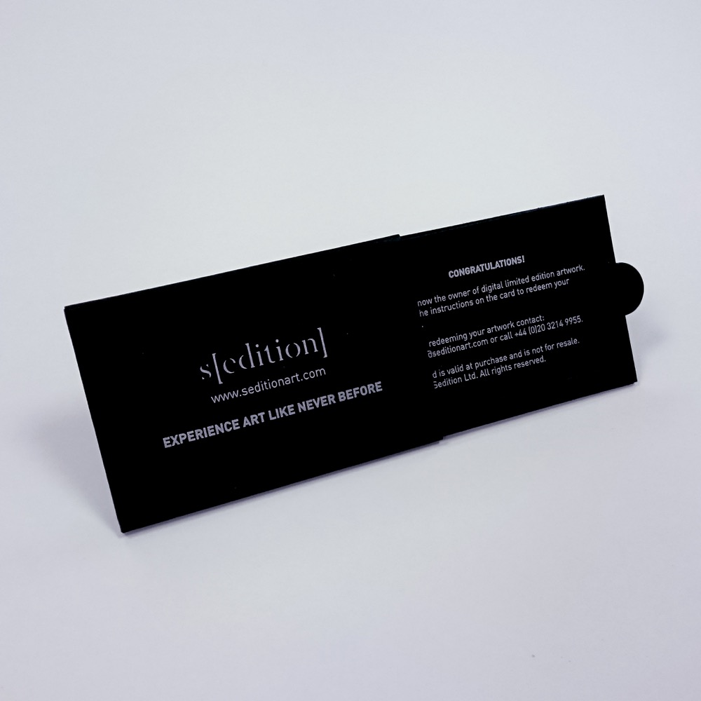 Sliding card presentation packaging