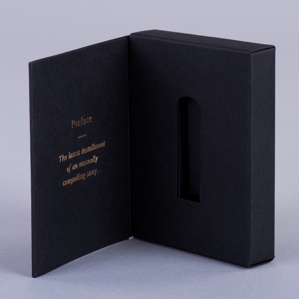 Small Hinged lid presentation box to hold USB