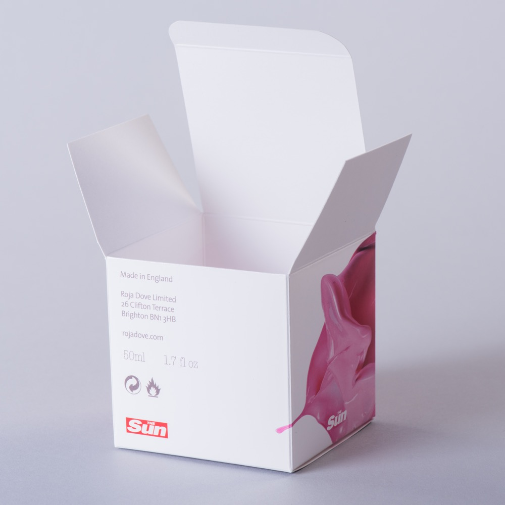 Laminated tuck in end carton